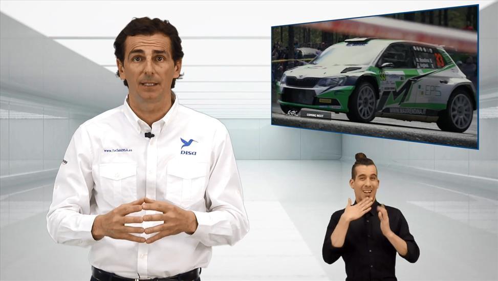 Vídeo seguridad DISA Rally Islas Canarias 2018 protagonizado por Pedro de la Rosa