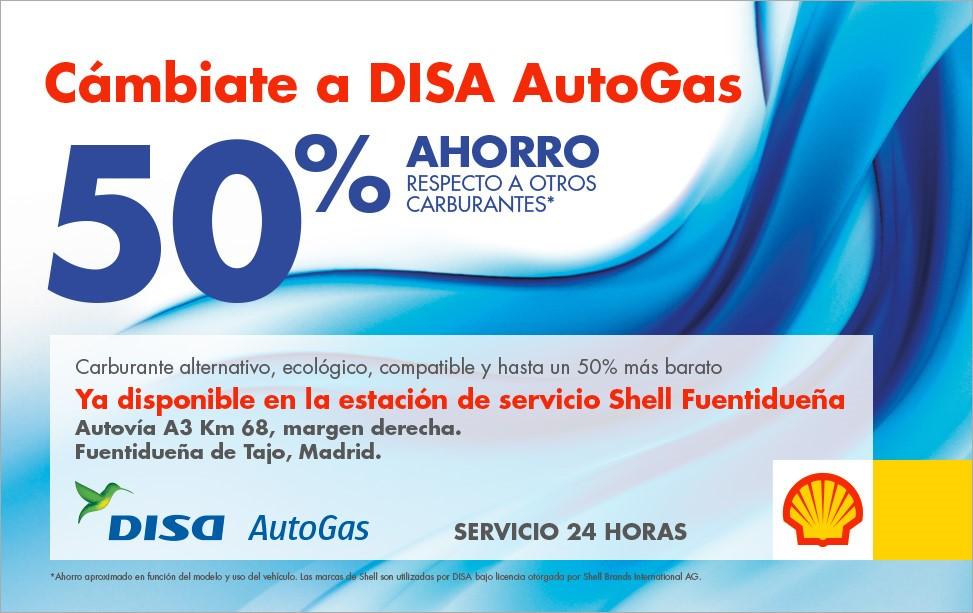 DISA AutoGas llega a la Península de la mano de la estación de servicio Shell Fuentidueña