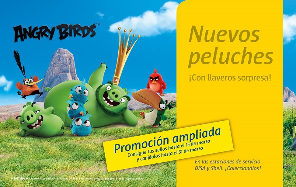Consigue tus peluches Angry Birds en estaciones de servicio DISA y SHELL hasta el 31 de Marzo